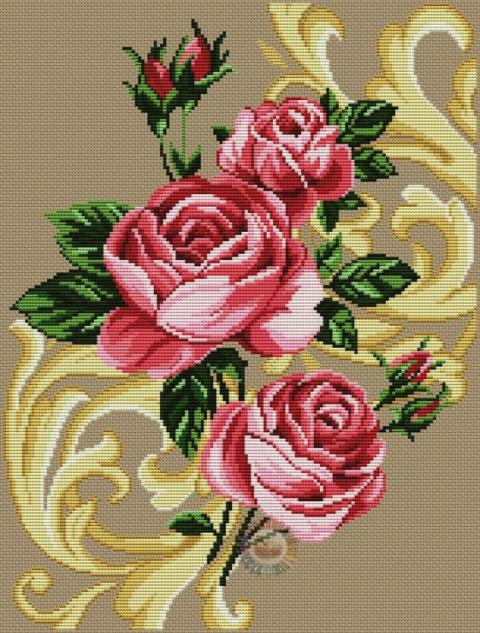 Вышивка.Розы (можно использовать для жаккарда )