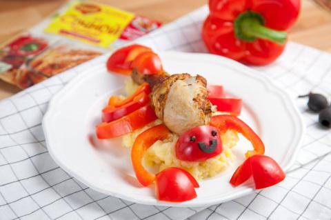 Сочная курица с картофельным пюре