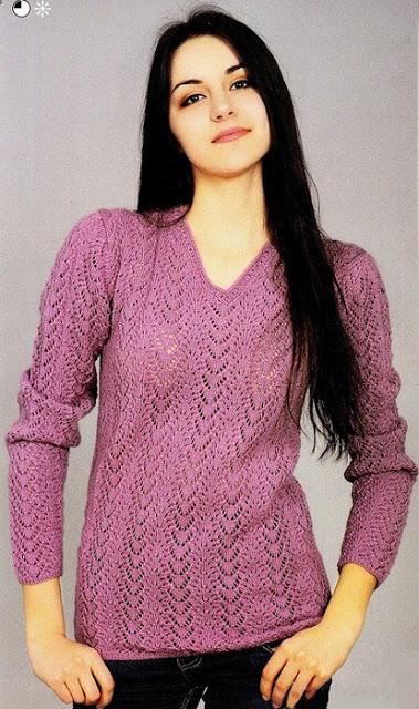 2 весенних пуловера спицами