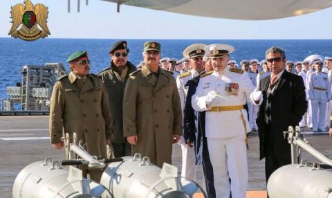 Ливийский маршал на борту авианосца «Адмирал Кузнецов»