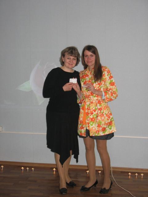 Вручение членских билетов членам Всемирной ассоциации позитивной психотерапии, Субботина Леся