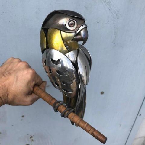 Великолепные скульптуры птиц из металлолома