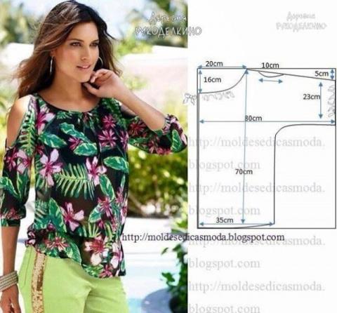 Простые выкройки летних блуз