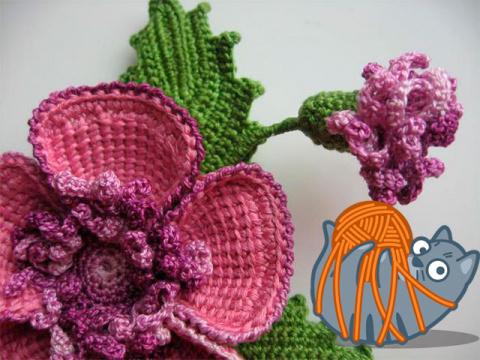 Вяжем цветы крючком. схемы, …