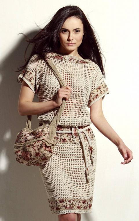 Шикарные идеи комбинаций ткань + вязание