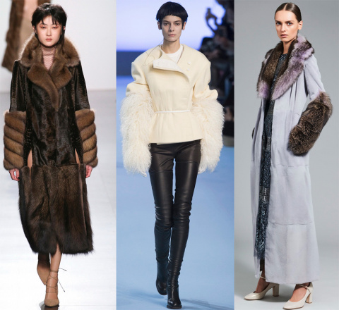 Модная тенденция 2017-2018 — меховые рукава