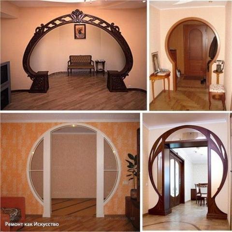 Межкомнатные арки в интерьере