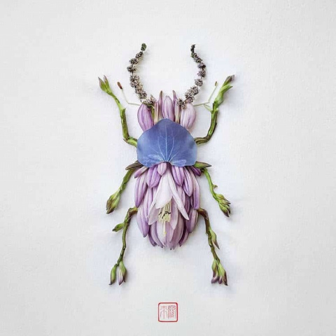Цветочные фигурки Раку Иноуэ: никогда ещё насекомые не были так милы