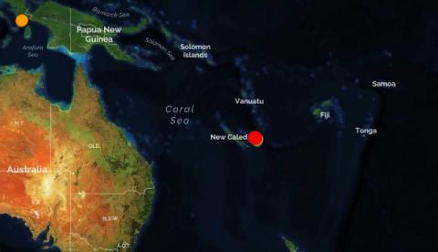 Новая Каледония. Землетрясен…