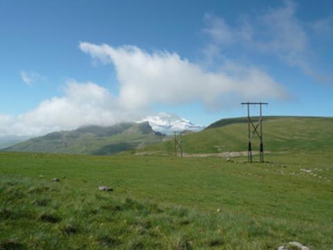 Бермамыт Вид на Эльбрус.