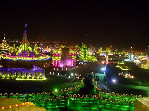 Фестиваль ледяных фигур Китая