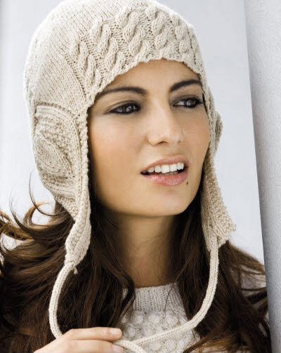 Схема вязания зимней шапки для