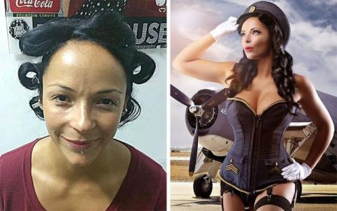 Как обычные женщины превращаются в гламурных пин-ап моделей