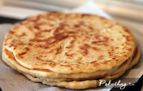 Рецепт хачапури с сыром на сковороде