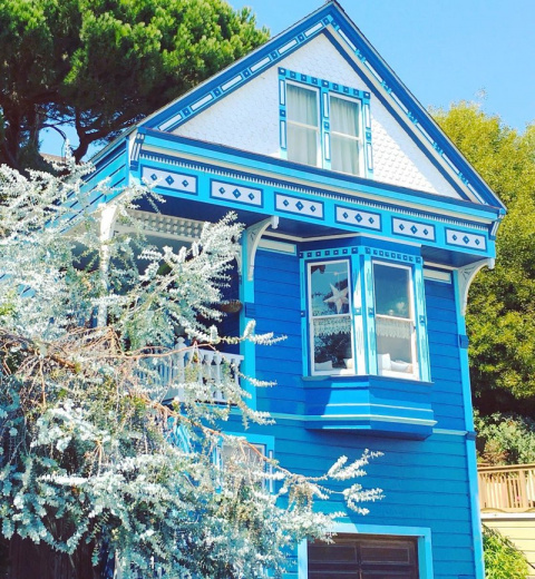 Сказочные фасады домиков в Сан-Франциско