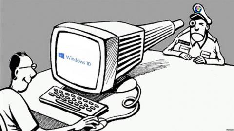 Как Windows 10 шпионит за по…