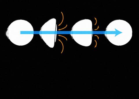 Физики научили микросферу плавать