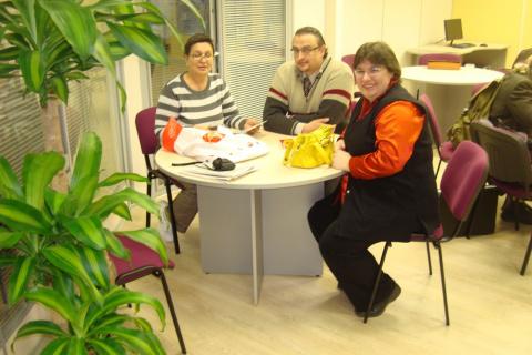 Московский офис начал работать... Альбина, Артур и Вера Юдаевы