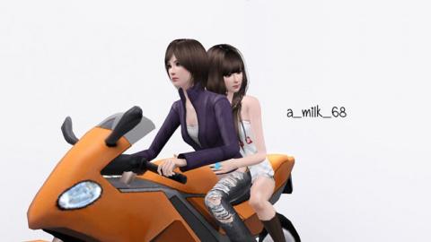 Набор поз Ride a bike от milkmin