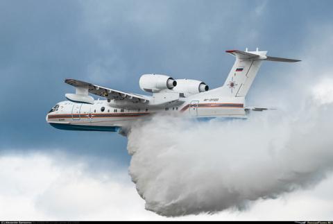Красноярские спасатели получили новый Бе-200ЧС