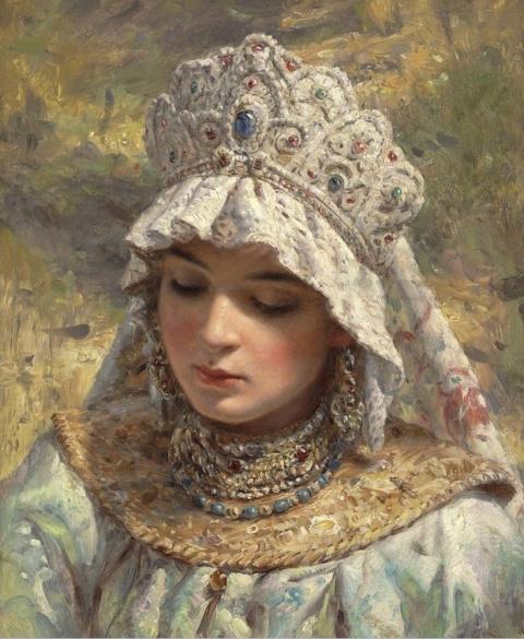 Русская краса в картинах Кон…