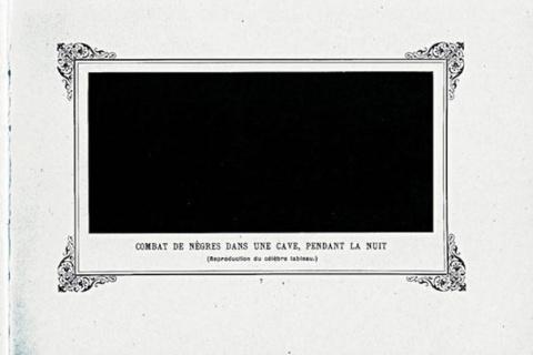 В 1882 году (за 33 года до «Черного квадрата» Малевича) на выставке «Exposition des Arts...