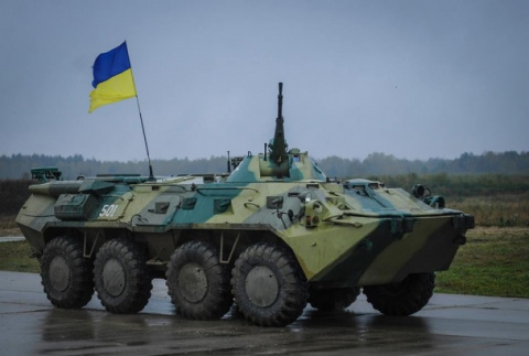 Украинский военный угнал БМП…