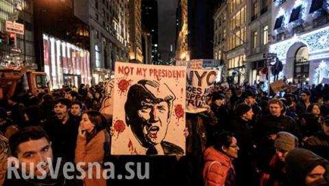 Протесты против Трампа в Аме…