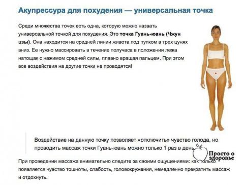 Акупрессура для похудения — …