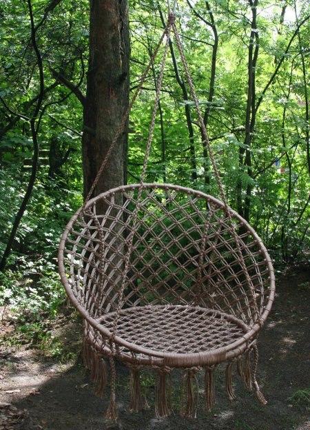 Плетеное кресло для дачи своими руками