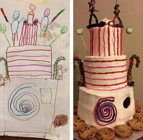 Торт по детскому рисунку