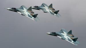 Российский истребитель Т-50 …