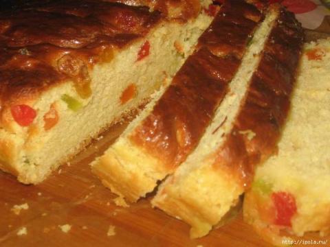 Сладкий сливочный пирог с цукатами