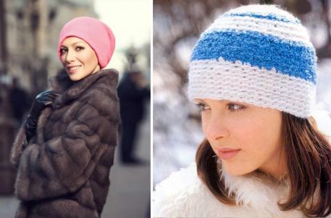 Вязаные шапки для женщин  возраста элегантности — фотоподборка с советами