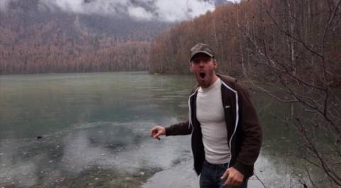 Странные звуки замерзшего озера
