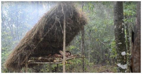 Как сделать лесную кровать с подогревом с помощью примитивных технологий
