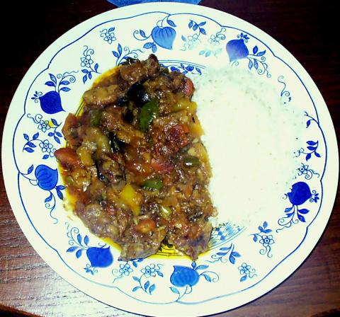 Мясо с овощами ( индийский рецепт )