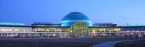 Астана. Аэропорт. Пассажирский терминал.