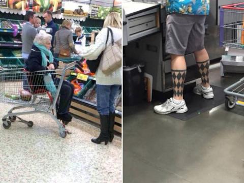 Смешные люди из супермаркето…