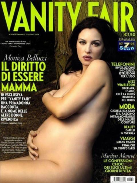 Деми Мур, Моника Беллуччи, Ксения Собчак: беременные звезды на обложках глянцевых журналов