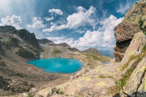 Архыз, озеро на высоте 3000 метров