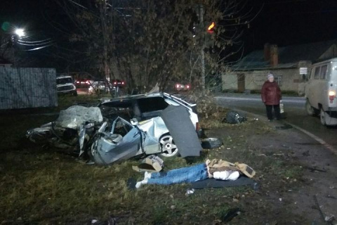 Смертельное столкновение «Лады» с Mitsubishi Pajero в Димитровграде попало на видео