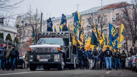 Националисты заявили, что «Сбербанк» во Львове заблокирован на долго