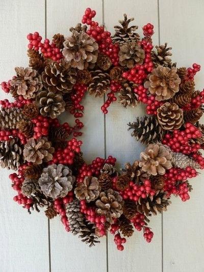 72 идеи для новогоднего декора из  шишек