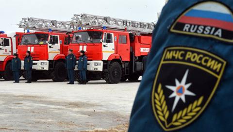 В Москве загорелся троллейбу…