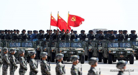 Военный парад в честь 90-лет…