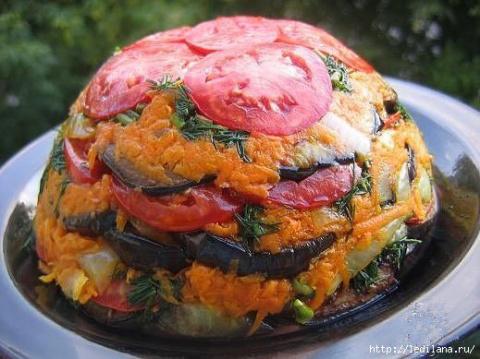 """Летний овощной торт """"Изумительный"""""""