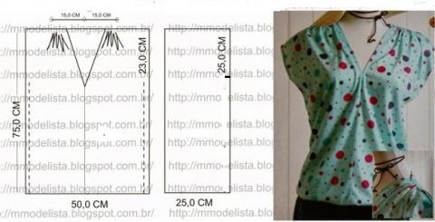 5 Простых выкроек  блуз