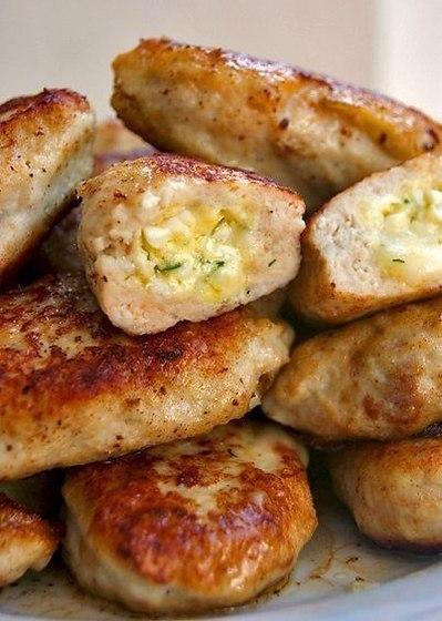 Вкуснейшие котлеты с сырной начинкой