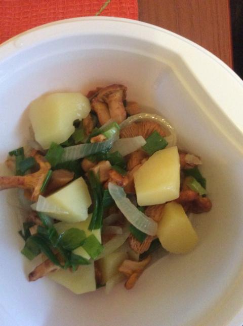 Лисички с картошкой в мультиваркЕ